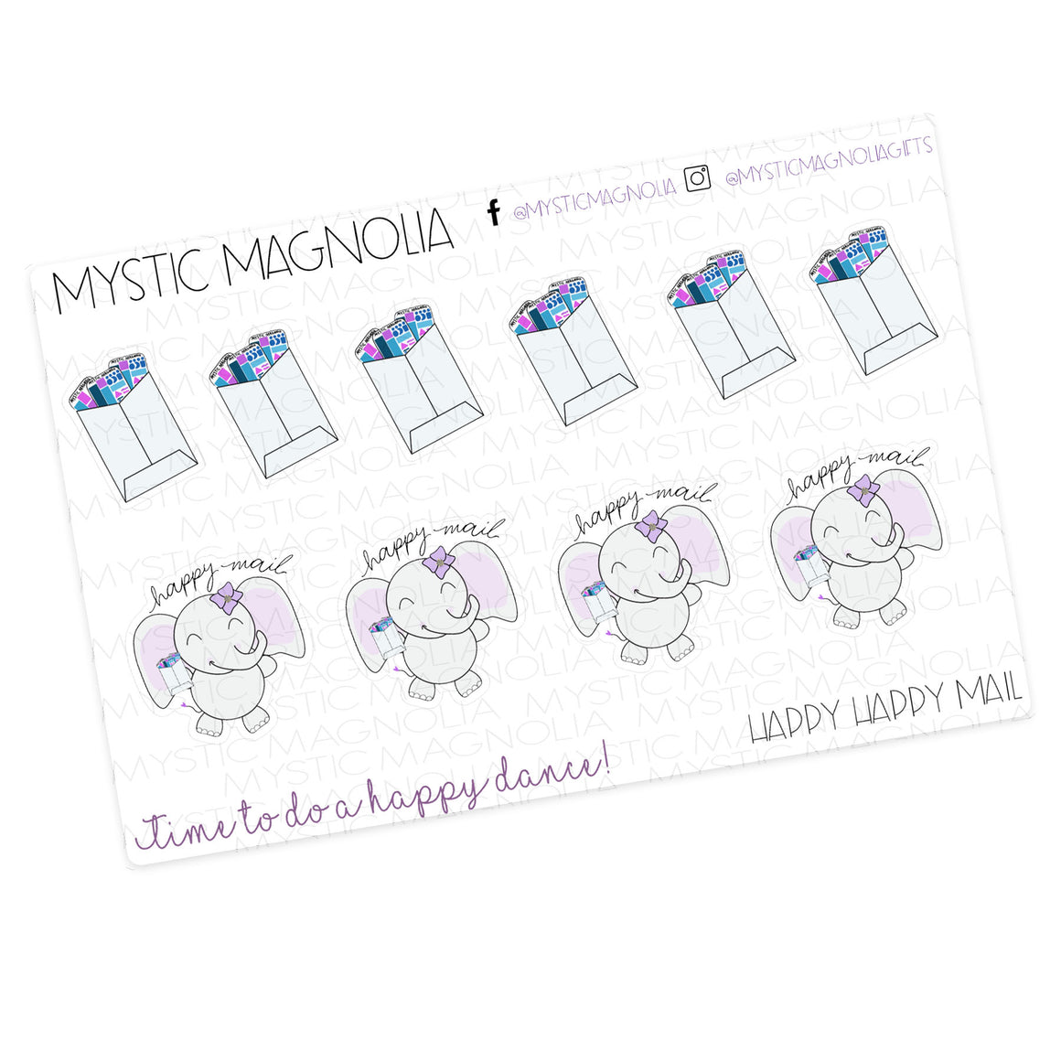 Happy Happy Mail Planner Sticker Label