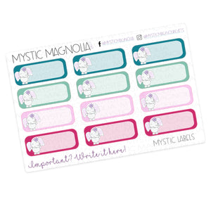 Mystic Labels Planner Sticker