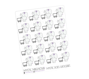 Mystic Does Groceries Planner Sticker Sheet
