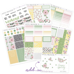 Hello Spring Planner Sticker Weekly Kit