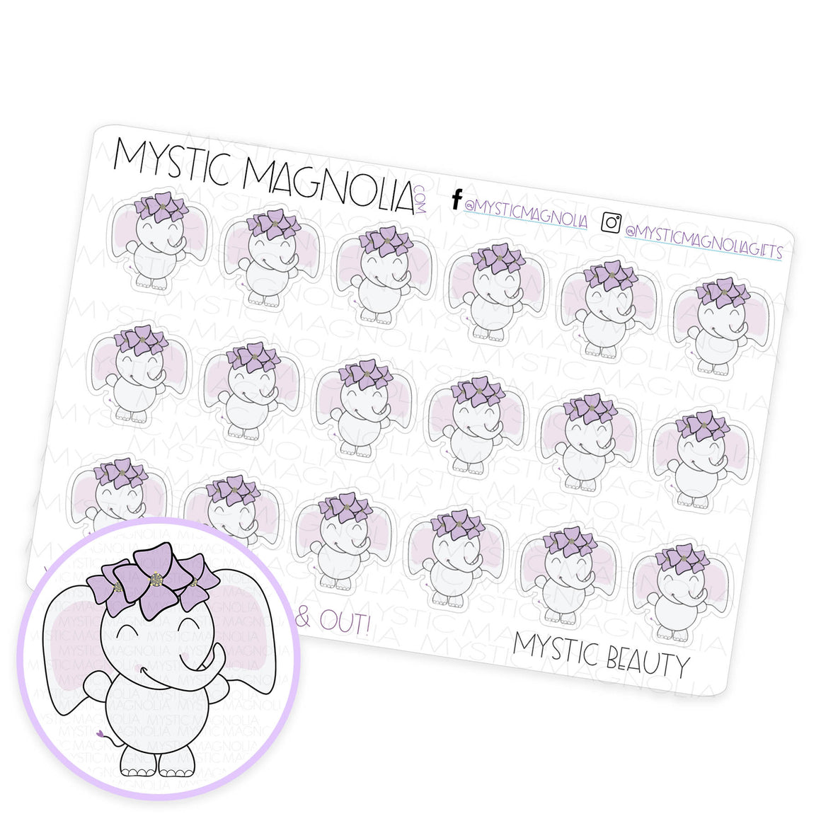 Mystic Beauty Planner Sticker Sheet