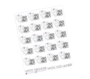 Mystic Does Laundry Planner Sticker Sheet