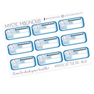 Mystic at the Dr -  Detailed Labels Planner Sticker Sheet