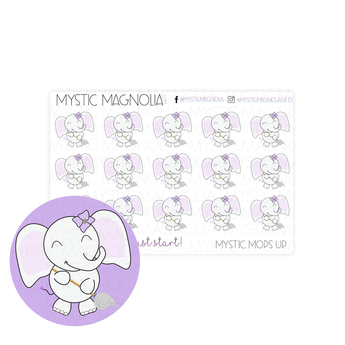 Mystic Mops Up Planner Sticker Sheet