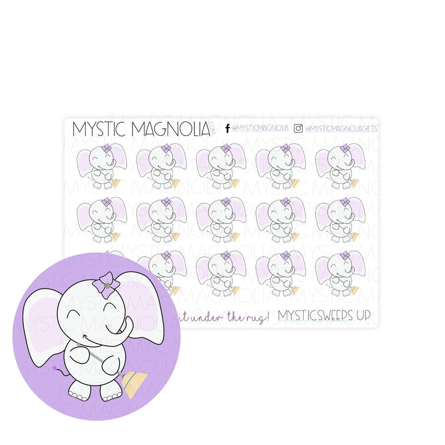 Mystic Sweeps Up Planner Sticker Sheet