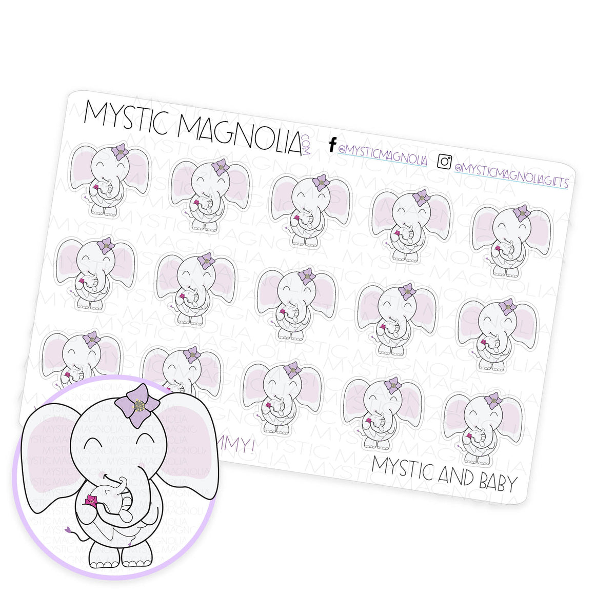 Mystic and Baby Planner Sticker Sheet