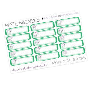 Mystic at the Dr -  Labels Planner Sticker Sheet
