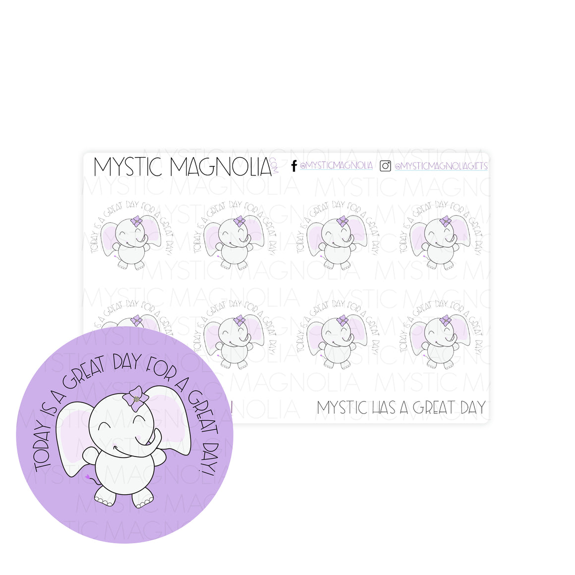 Mystic Has a Great Day Planner Sticker Sheet