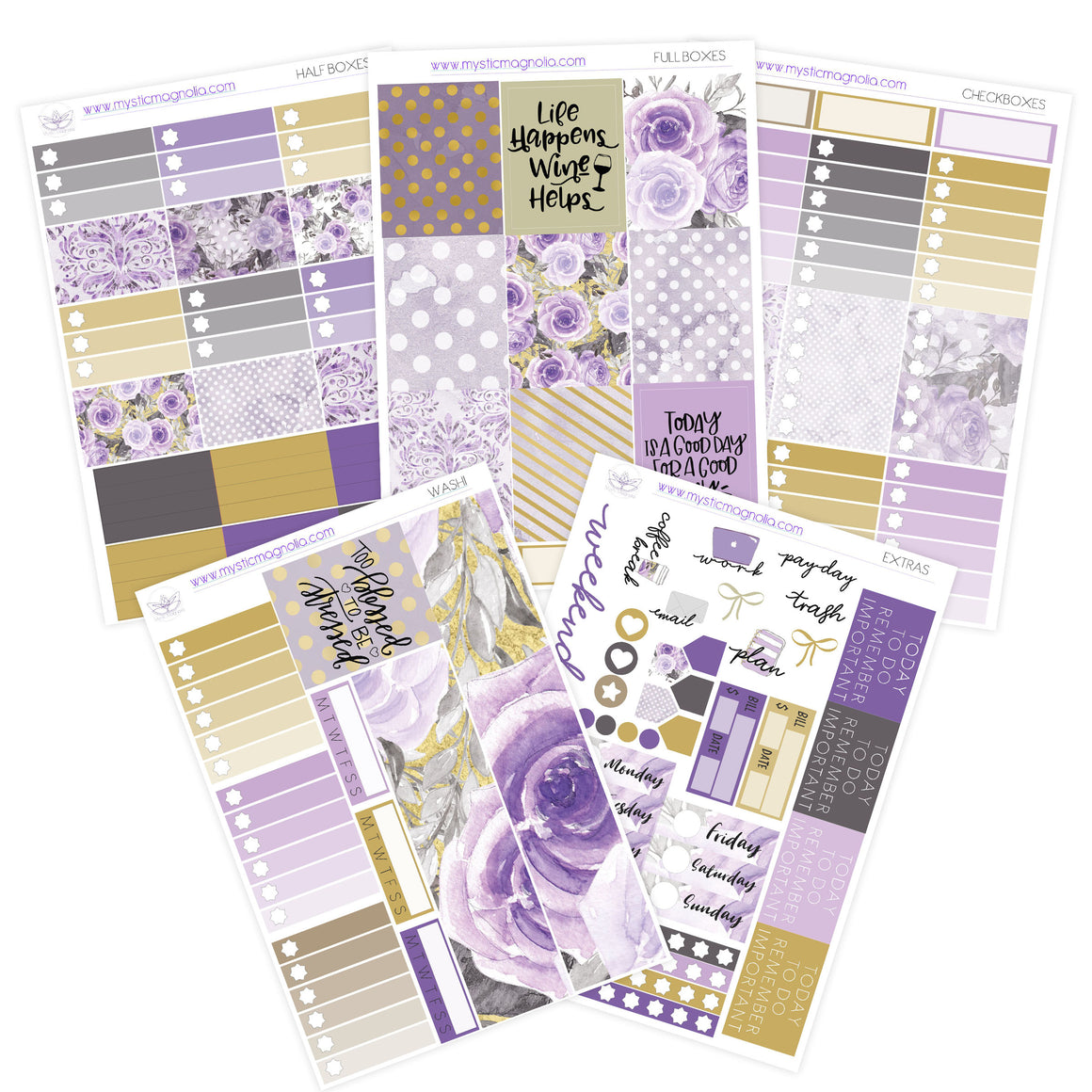 Purple Reign Planner Sticker Kit