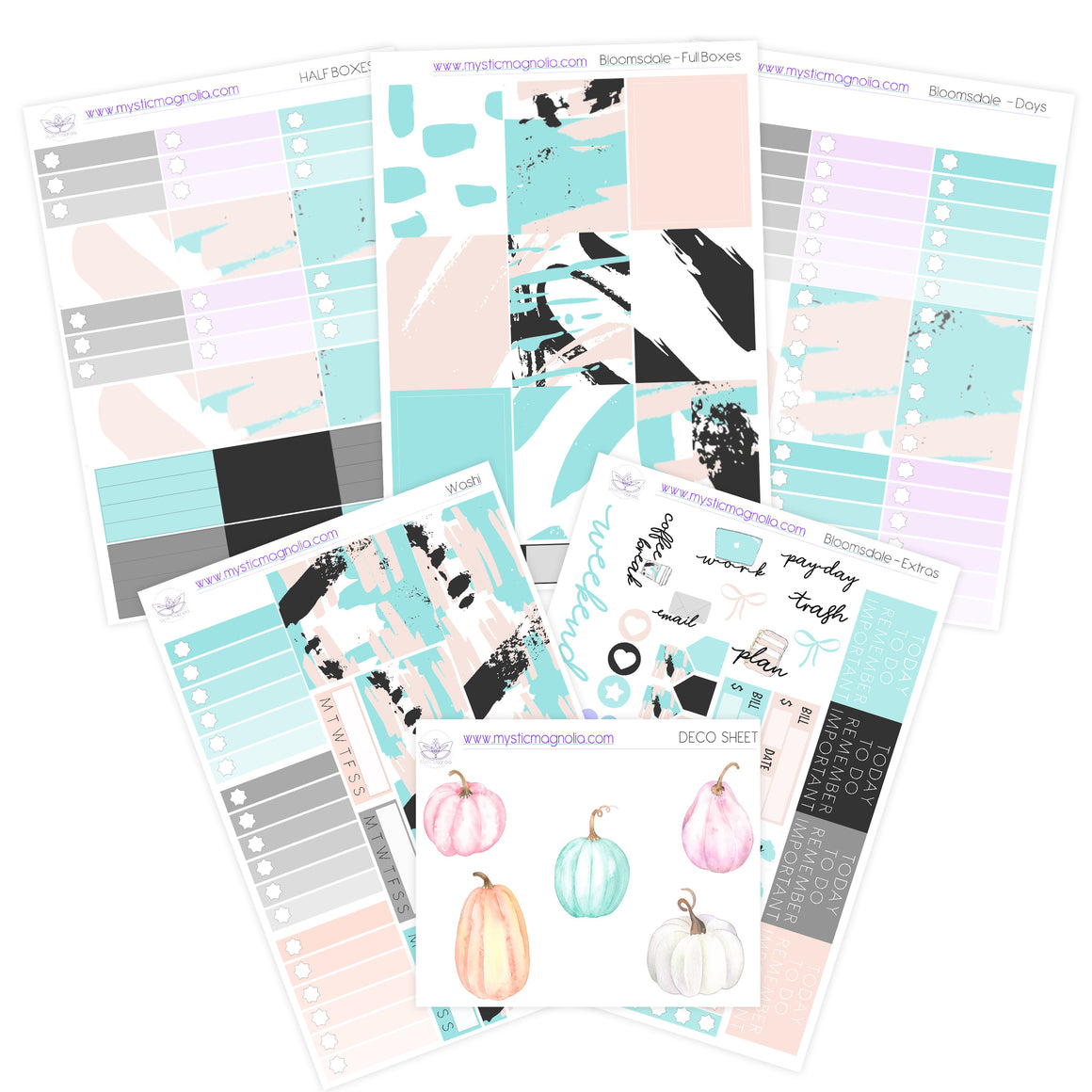 Scratch That, Pumpkin Planner Sticker Kit