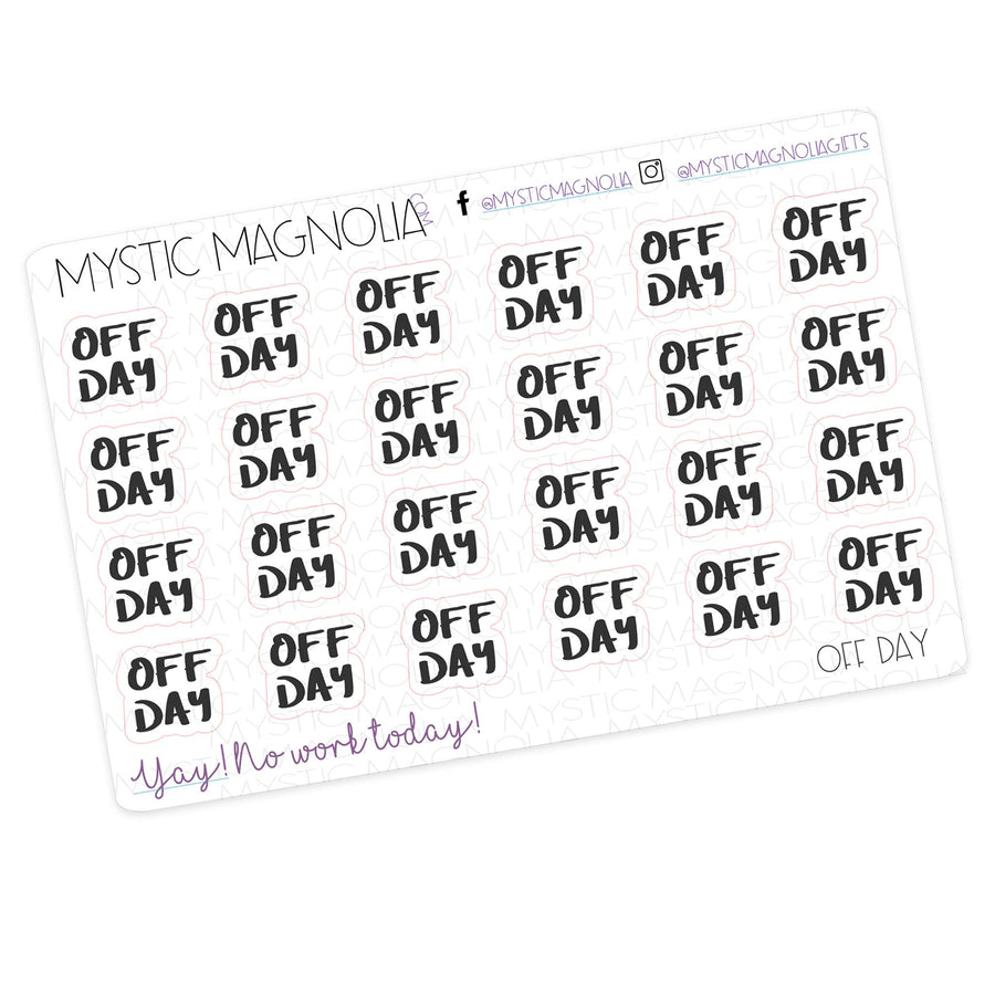 OFF DAY - Script Planner Stickers