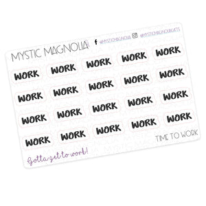 Work- Script Planner Stickers