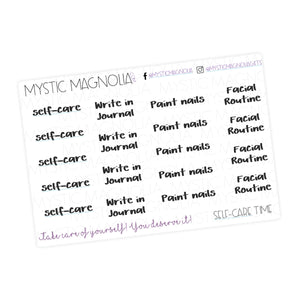 Self-Care Script Planner Stickers