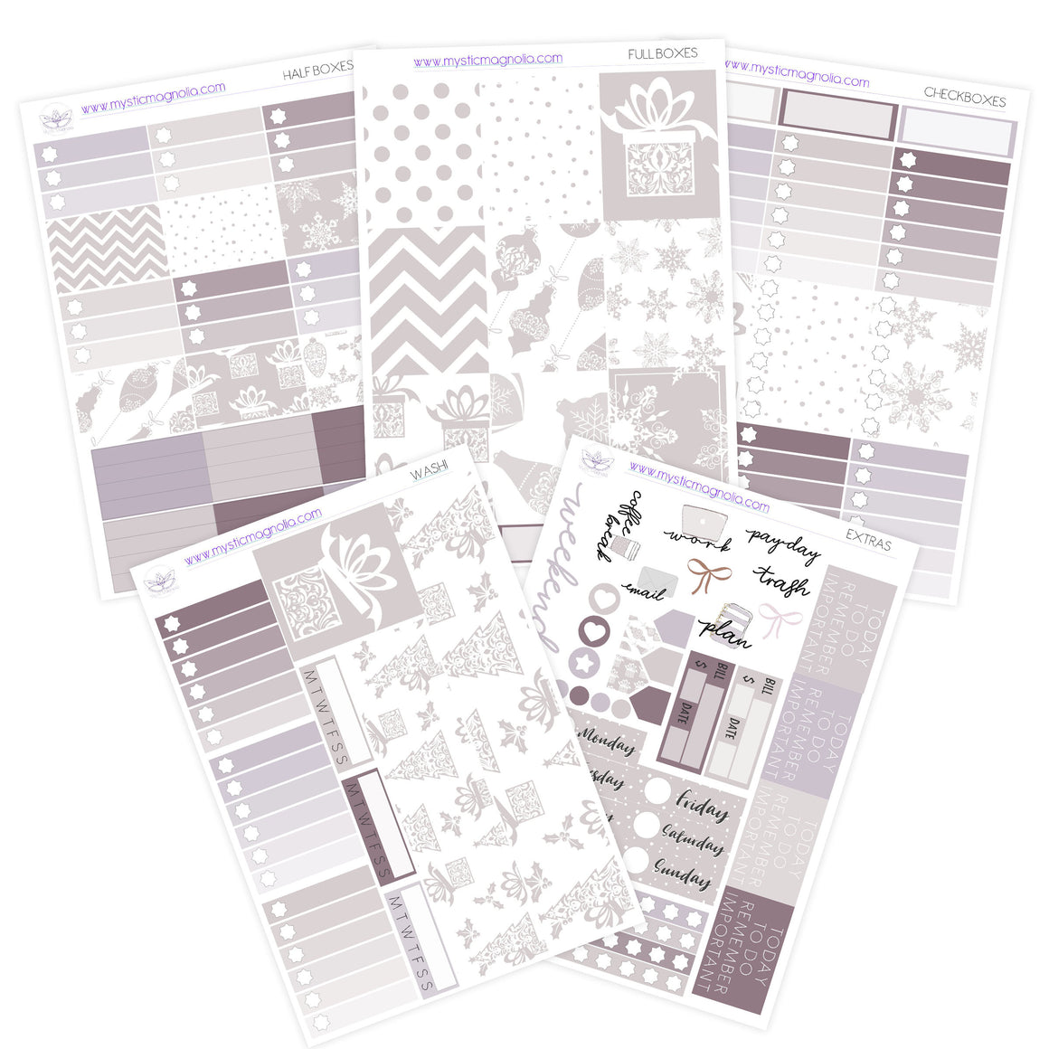 Dreamy Christmas Planner Sticker Kit
