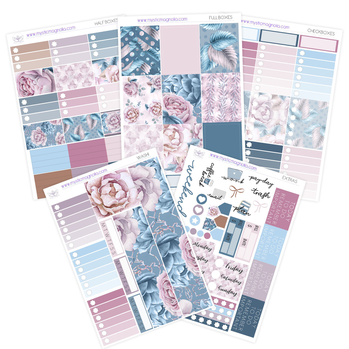 Vintage Bloom Planner Sticker Kit