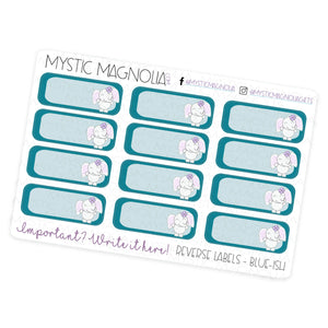Mystic Reverse Labels Planner Sticker Sheet