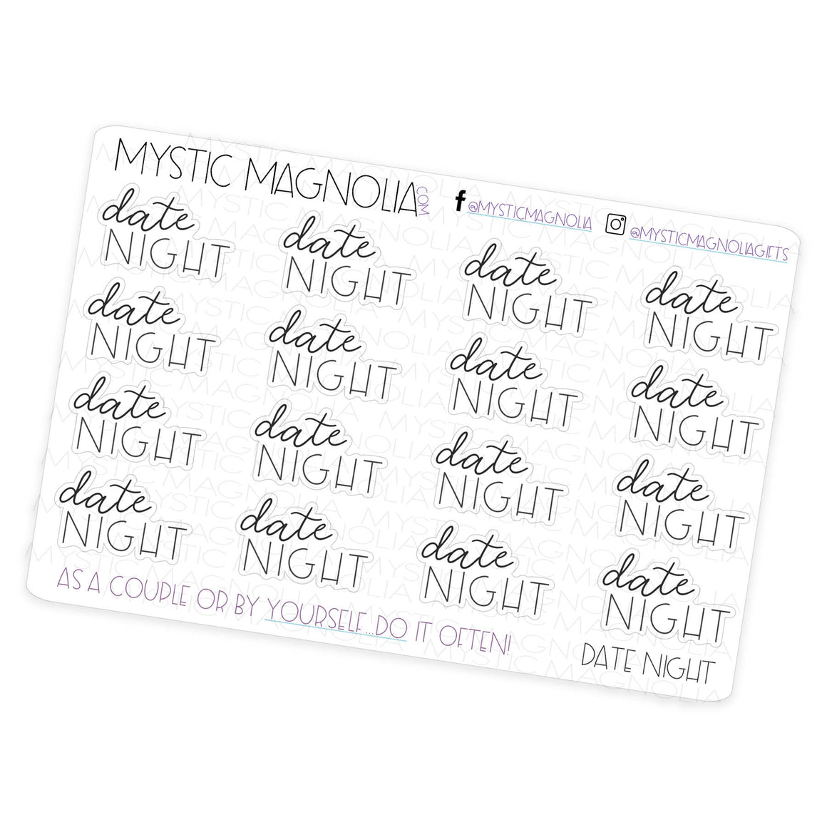 Date Night - Script Planner Stickers