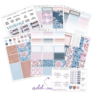 Calming Bloom Planner Sticker Weekly Kit