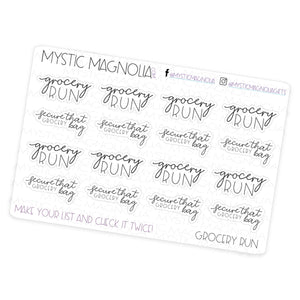 Grocery Run - Script Planner Stickers