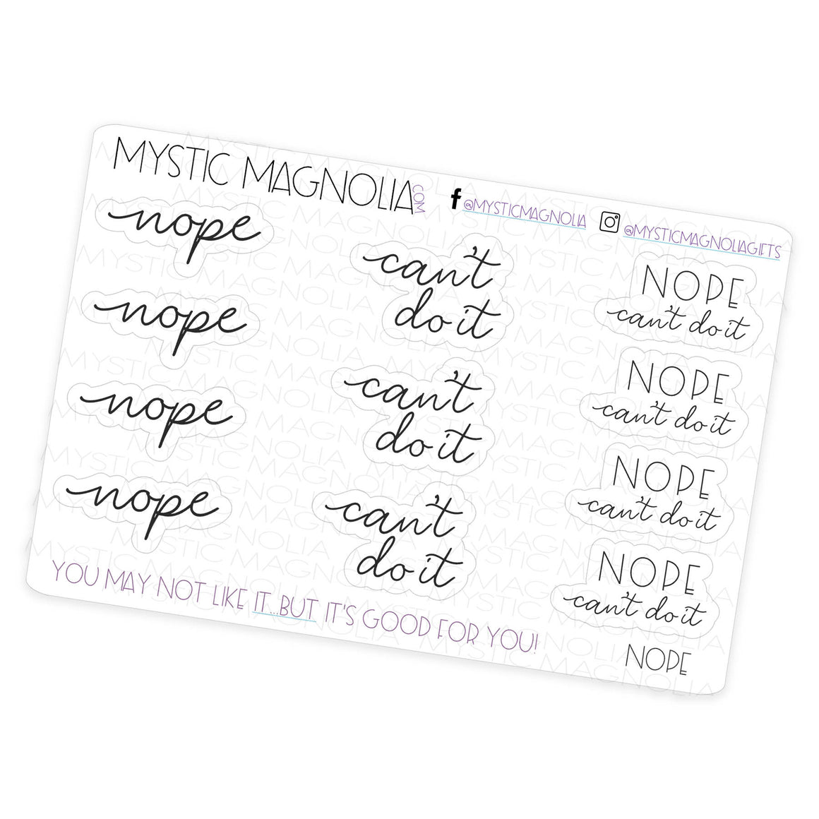 Nope - Script Planner Stickers