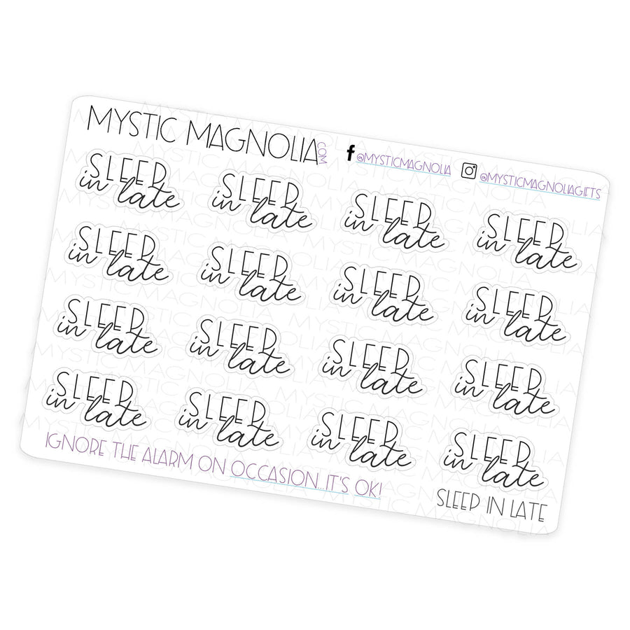Sleep in - Script Planner Stickers