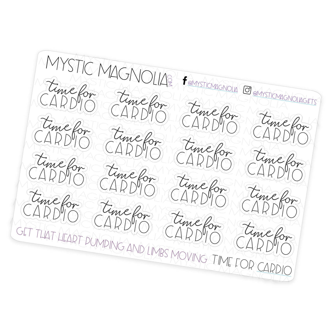 Cardio Time - Script Planner Stickers