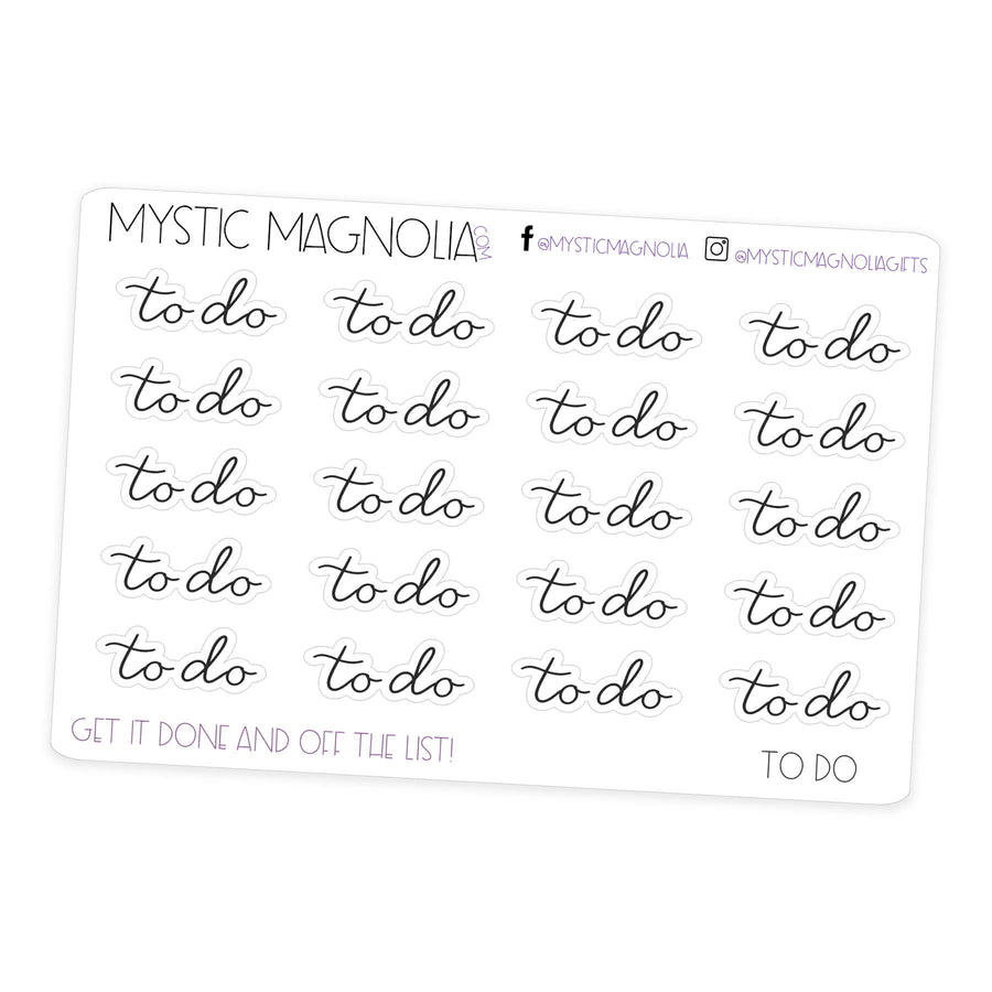 to do- Script Planner Stickers