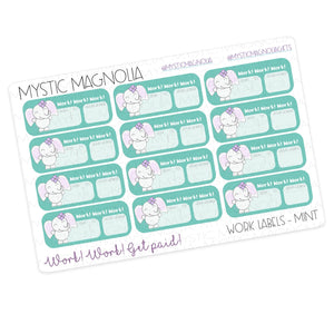 Mystic Work Labels Planner Sticker Sheet