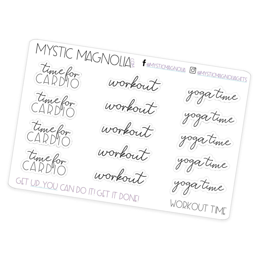 Workout Time - Script Planner Stickers