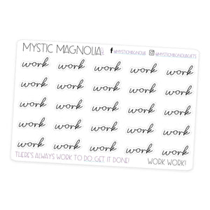 Work - Script Planner Stickers