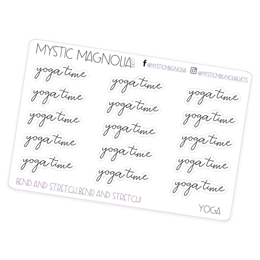 Yoga Time - Script Planner Stickers
