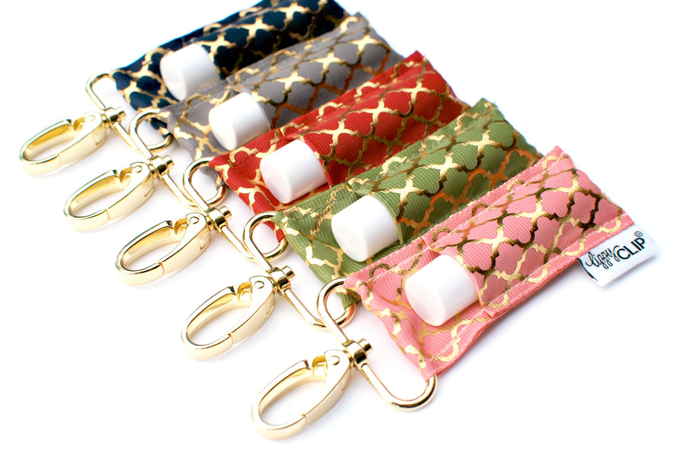 Gold Quatrefoil LippyClip collection