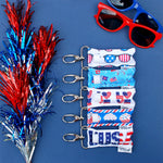 Patriotic LippyClip collection on blue background