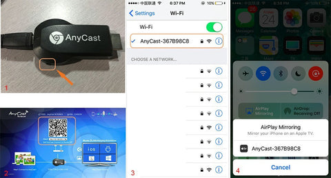 anycast how to connect iphone