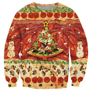 Christmas Pizza 3D Crewneck