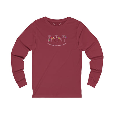 Spread More Smiles, Eat More Veggies - 3 Pigs Unisex Long Sleeve