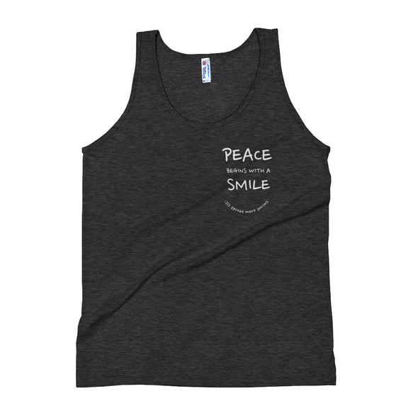 Peace Begins With A Smile - Unisex Tank