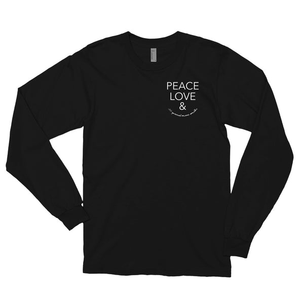 Peace Love and spread more smiles - Unisex long sleeve tee