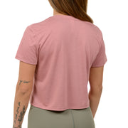 Crop Top Tee. Rose