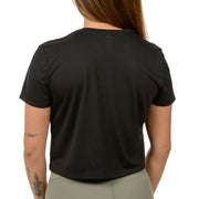 Crop Top Tee. Black