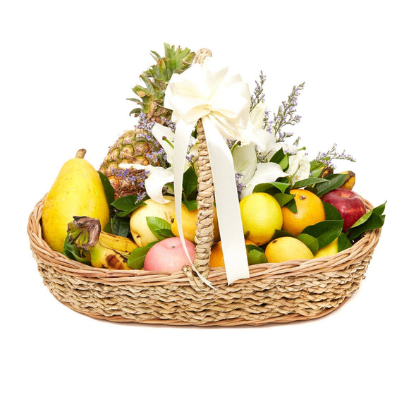Assorted Blooms - Fruit Basket