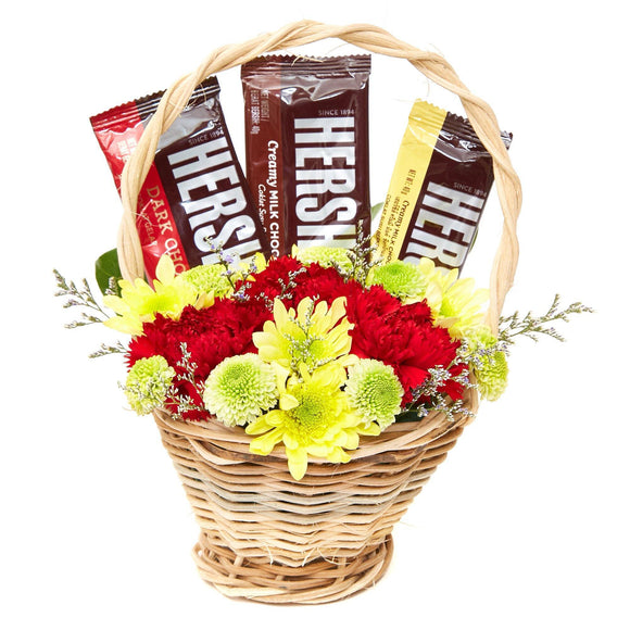 Assorted Blooms - Sweet Colors Gift Basket