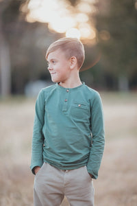 Everyday Long Sleeve Shirt-- Light Forest Green