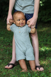 Fair Winds Gray Baby Romper