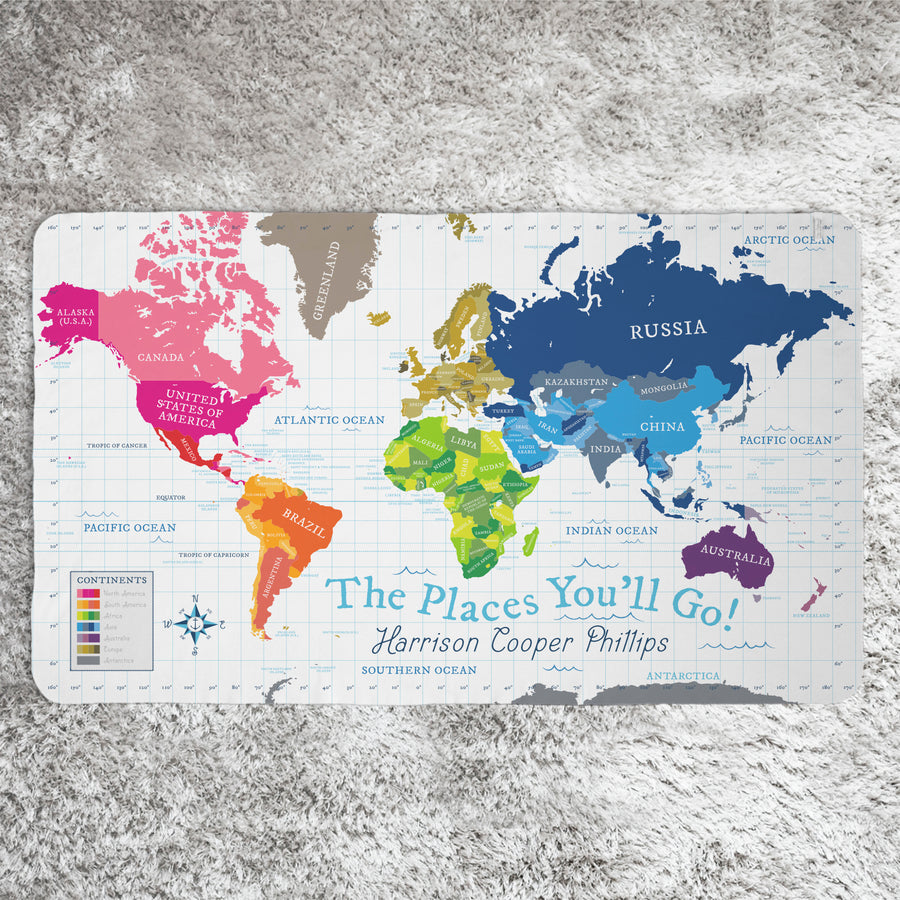 World map blanket blue pitter patterned world map blanket white world map blanket white gumiabroncs Images