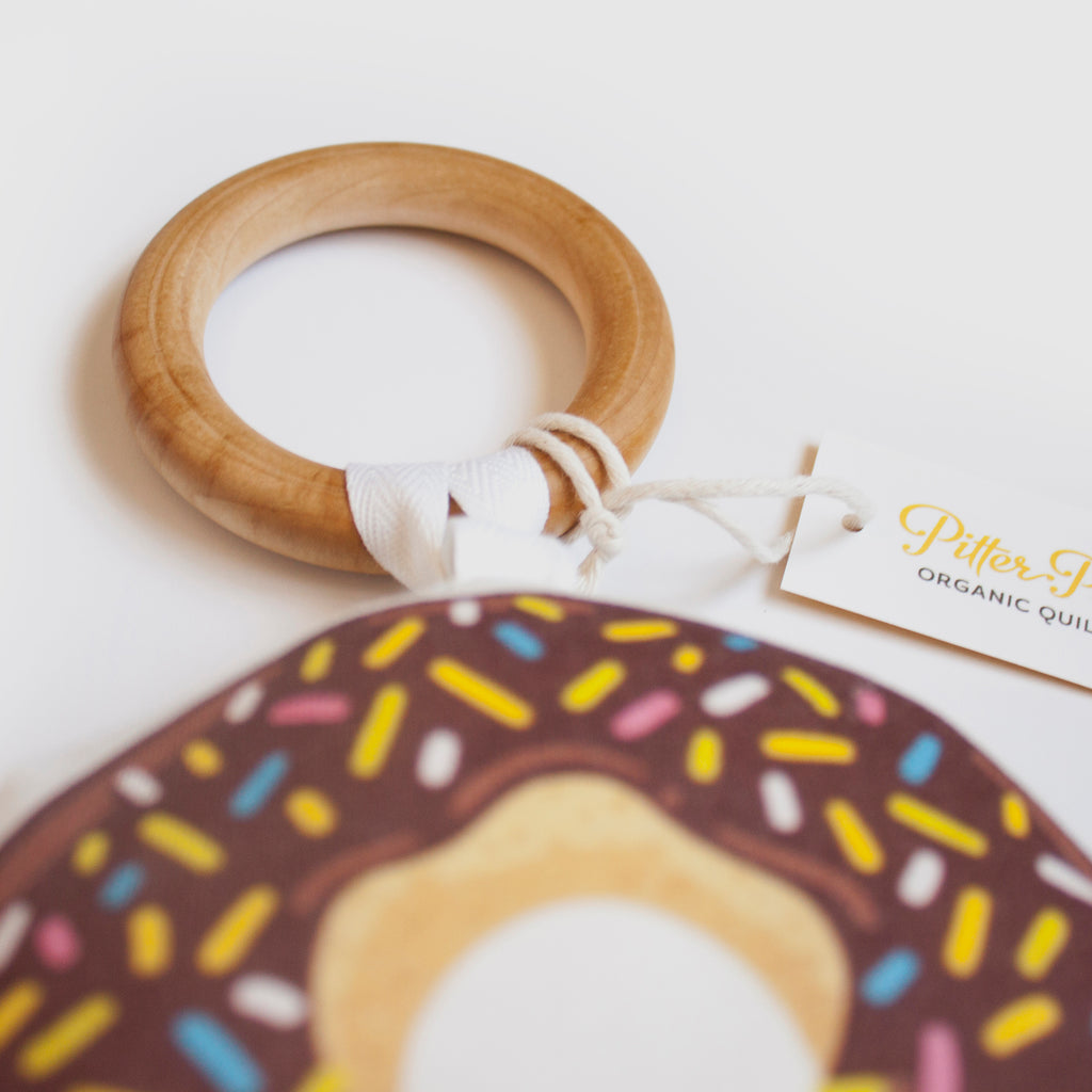 Donut Rattle - Brown