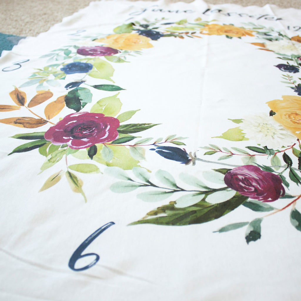 Monthly Milestone Blanket - Fall Florals