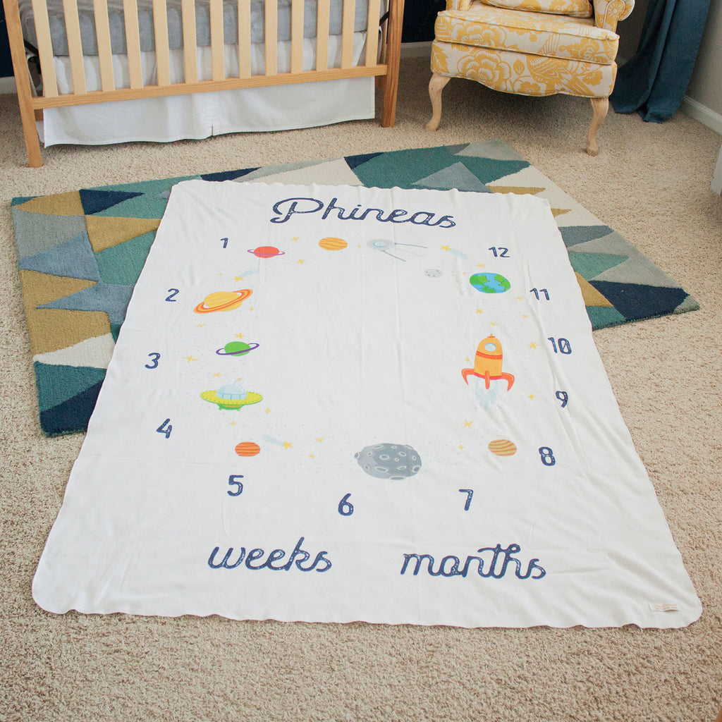Monthly Milestone Blanket - Space