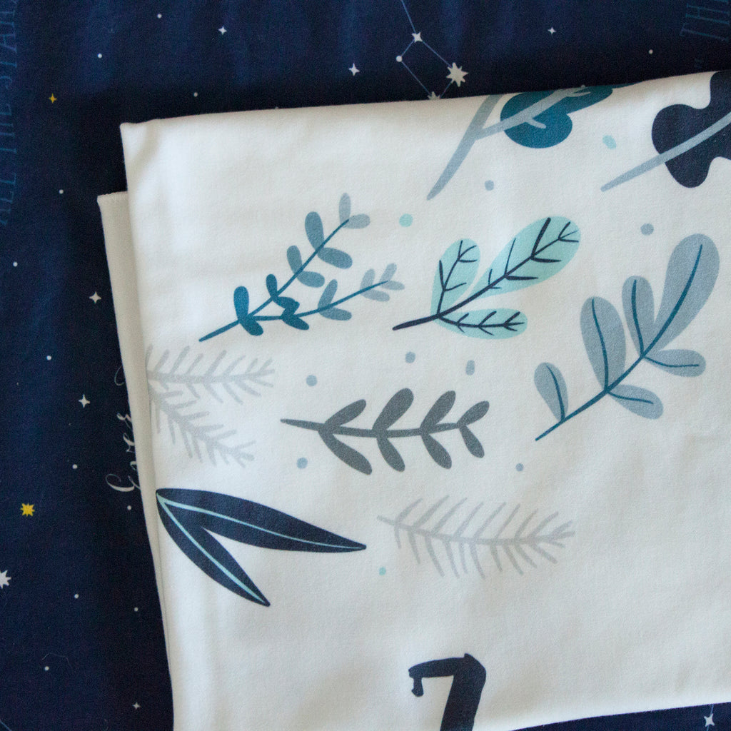 Monthly Milestone Blanket - Leaves