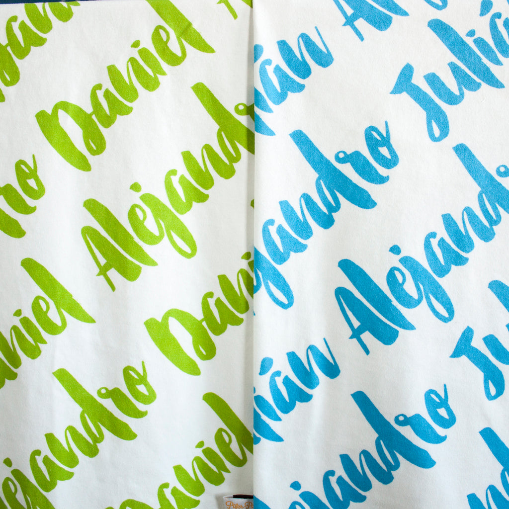 Brush Script Name Blanket